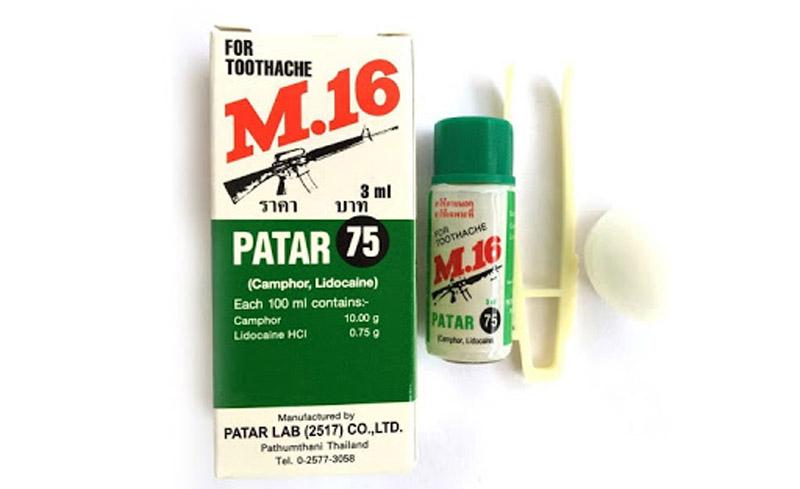 Thuốc M16 có nguồn gốc từ Thái Lan trị sâu răng hiệu quả, giá rẻ.