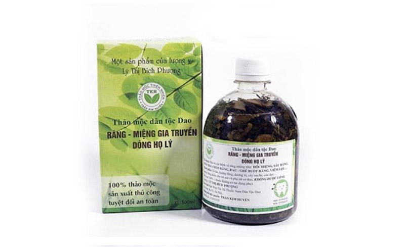 Thuốc đặc trị các bệnh răng miệng Trần Kim Huyền - bài thuốc dân tộc Dao.