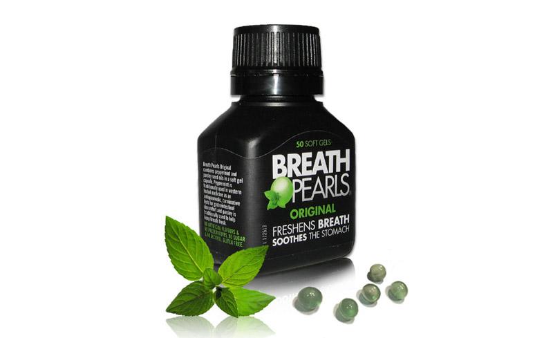 Thuốc Breath Pearls là cách chữa hôi miệng cấp tốc tiện lợi.