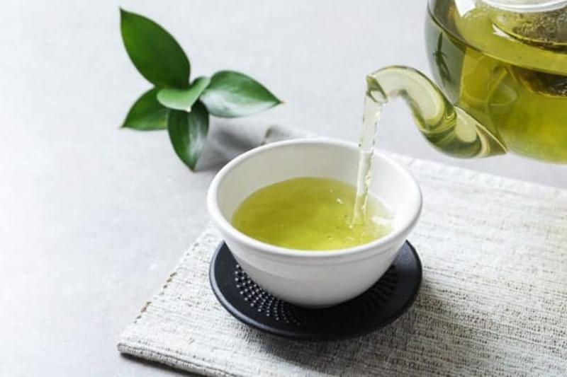 Trong lá trà xanh có tác dụng diệt khuẩn và kháng việm khi người bệnh bị hôi miệng