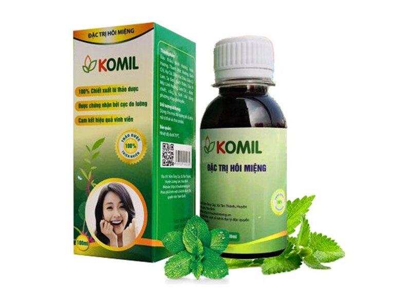 Komil là loại thuốc điều trị hôi miệng nặng mùi do viêm lợi, viêm tuyến nước bọt