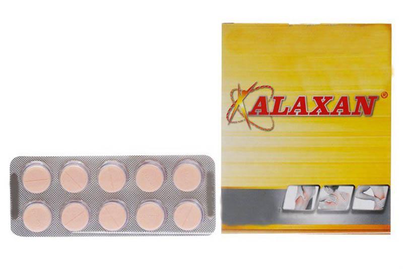 Alaxan là thuốc giảm đau, hạ sốt phổ biến
