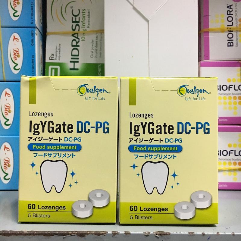 Viên ngậm trị sâu răng IgYGate DC-PG an toàn cho trẻ nhỏ