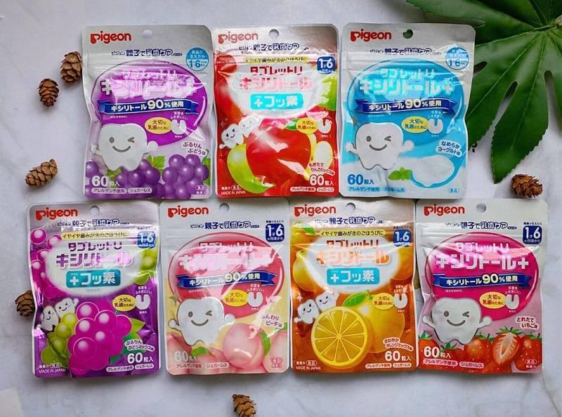 Sản phẩm kẹo ngừa sâu răng Pigeon của Nhật