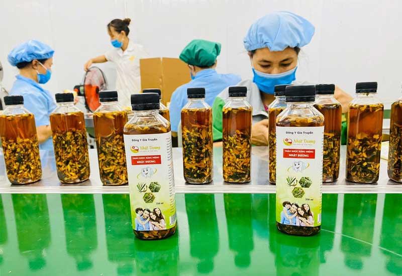 Các thành phần của thuốc đều được xử lý trên dây chuyền chuẩn chất lượng