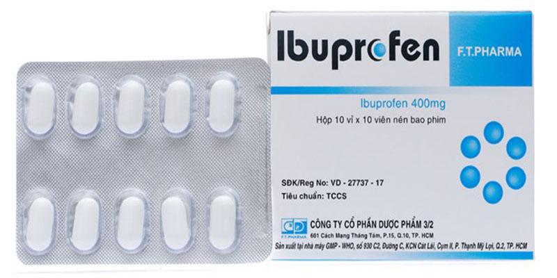 Ibuprofen thuộc nhóm thuốc kháng viêm không chứa steroid (NSAID)