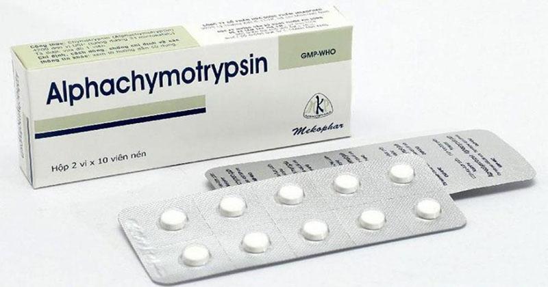 Viêm lợi trùm răng khôn uống thuốc gì - Alphachymotrypsin