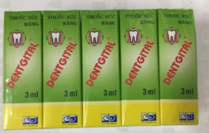 Thuốc Dentgital trị nhiễm trùng răng miệng, đau răng