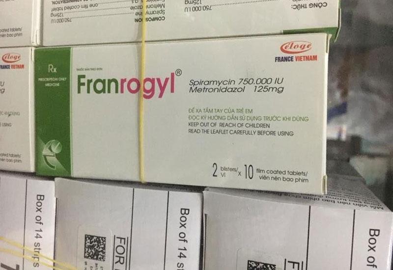 Franrogyl một loại thuốc thường dùng trong điều trị các bệnh lý răng miệng